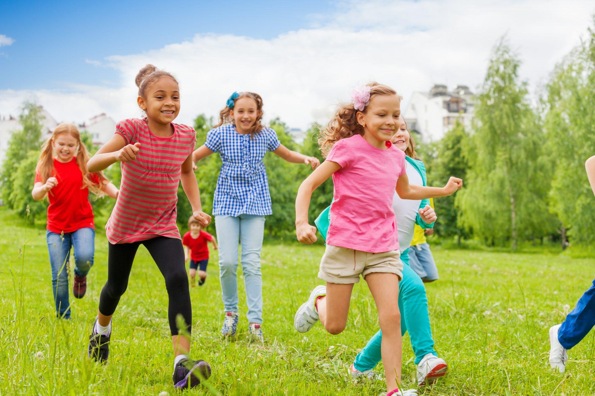 Children being active