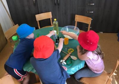Making our own play dough